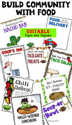 School Climate - Building Community with food. Fun food ideas plus tips to organize morale boosters for school staff. School Leadership, Educational Leadership, School Counseling, Leadership Activities, Leadership Development, Professional Development, Educational Technology, Teacher Morale, Staff Morale