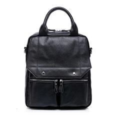 Newly Black Preppy Style, European and American Style Calfskin Backpacks And Handbag for Ladies|  $70.00 Style:European and American Style Usage:Casual Material:Calfskin Color:Black Size:L*W*H: 27*11*32 cm
