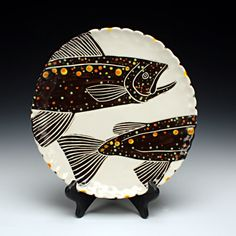 Sue Tirrell - dinner plate with fish