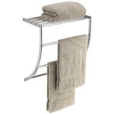Bath Curved Towel Rack with Shelf