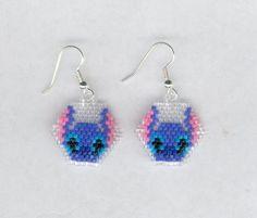 Disney Stitch Beaded Earrings by FoxyMomma on Etsy, $15.00