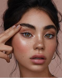 freckles and rosy glow makeup
