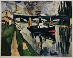 Seine at Poissy, 1908, by Maurice de Vlaminck (French, 1876–1958).