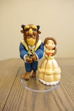 Cute Belle and Beast Doll Art Inspiration Perfect for Beauty and the Beast Party or Baby Shower Decorations for any Princess, Disney, Belle, Beauty and