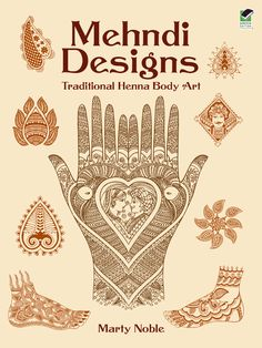 Scores of lovely designs adapted from authentic images used in an ancient art form include fine line, lacy, and paisley motifs, floral borders, heart-shaped insets, and repeat patterns. 166 black-and-white illustrations.<br>