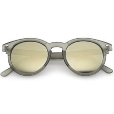 b1fffaf8b1 Buy zeroUV - Colorful Frosted Retro P3 Flash Mirror Lens Horned Rim Round  Sunglasses online