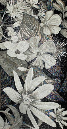 Black & White SICIS mosaic ♥•♥•♥STUNNING♥•♥•♥