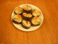 Homemade Korean kimbab