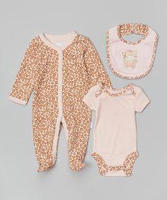 Look what I found on #zulily! Pink Purrfectly Dressed Bodysuit Set by Vitamins Baby #zulilyfinds