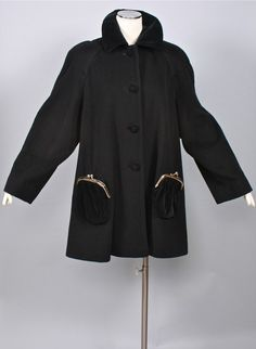 Vintage MOSCHINO CHEAP & CHIC Coat Kisslock Purse by StatedStyle