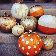 glitter pumpkins atΚΑΘ