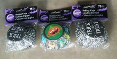 Check Out Our Store! Wilton Halloween Lot 3 pk (225 Baking Cups) Trick or Treat Goblin Ghouls Pumpkin #Wilton