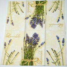 Lavender Flower Paper Napkins Floral Decoupage Paper by YWart