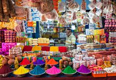 #India  sus mercados, ricos en colores y aromas.
