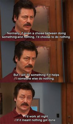 ron-swanson-memes memes-rs-doing-nothing
