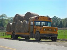 School bus/hay wagon