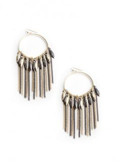 Flutter Your Feather Hoop Earrings  $13.00  + Free shipping