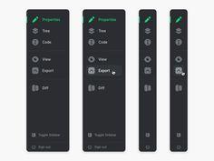 Toggle Sidebar by James on Dribbble Navigation Design, Design Ios, User Interface Design, Flat Design, Icon Design, Design Thinking, Sites Layout, Desktop Design, Ui Components