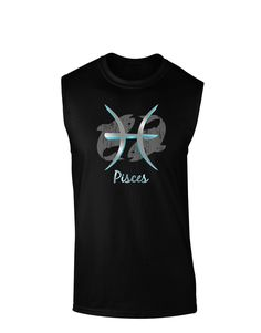 67c068c54 TooLoud Pisces Symbol Dark Muscle Shirt Symbol Design, Muscle Shirts, Fun  Prints, Pisces
