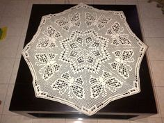 Butterfly Filet Table Topper from the book Crochet Lace by Jean Leinhauser & Rita Weiss