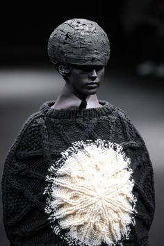 """wgsn: """"Japanese designer #Anrealage played with the metaphor of light within darkness for #AW15 producing a surreal and conceptually stunning collection #PFW """""""