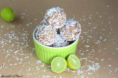 Key Lime Coconut Energy Bites - the perfect treat to grab when the afternoon snack craving hits! Paleo friendly too!