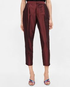 JACQUARD PANTS WITH SIDE STRIPES from Zara