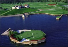 The Coeur d'Alene Resort Golf Course in the foothills of the Rocky Mountains  in North Idaho, USA