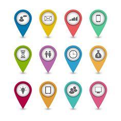 Бесплатный набор бизнес инфографика иконки для веб-дизайна вектор