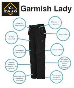 Дамски панталон Zajo Garmish с воден стълб 10000 мм, подходящ за ски, сноуборд и други зимни спортове: http://www.ex3m.bg/shop/дамски-дрехи/панталони/дамски-панталон-zajo-garmish-detail.html