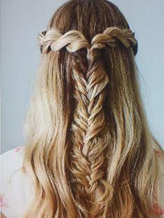 Fish tail braid ;)
