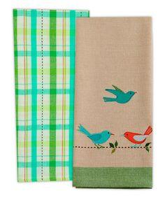 Another great find on #zulily! Garden Birds Dish Towel Set by Design Imports #zulilyfinds