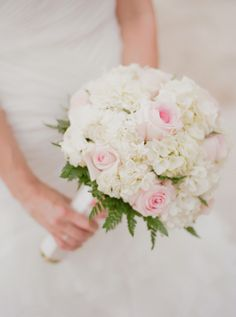 Hydrangea and Rose Bouquet | On SMP: http://www.stylemepretty.com/destination-weddings/2013/11/29/ochos-rios-jamaica-wedding-from-christina-mcneill | Christina McNeill Photography
