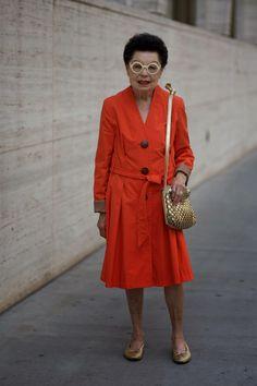 ADVANCED STYLE: Red and Gold @Paula Knight-Osborne