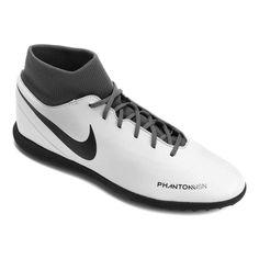361930829f Chuteira Society Nike Phantom Vision Club DF TF - Cinza