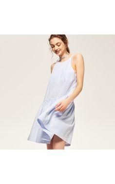 Sukienka z rozkloszowanym dołem, Sukienki, kombinezony, niebieski, RESERVED
