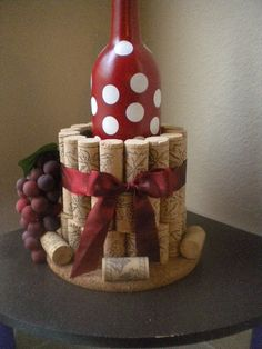 Wine Bottle Cork Crafts 5 - ViraLinspirationS - The Effective Pictures We Offer You About crafts for teenagers A quality picture can tell you many - Wine Craft, Wine Cork Crafts, Wine Bottle Crafts, Wooden Crafts, Resin Crafts, Wine Bottle Corks, Wine Bottle Holders, Diy Cork, Wine Cork Projects