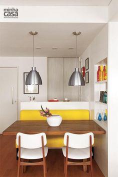 Revista MinhaCASA - Apartamento de 86m² com toque de cor e aconchegante