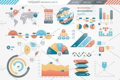 @newkoko2020 Infographic Elements (v1) by Infographic Paradise on @creativemarket #infographic #infographics #bundle #design #template #megabundle #bigbundle #presentation #vector #business #layout #creative #graph #information #visualization