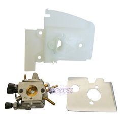 Carby Heat Shield Carburetor W/ Housing Mounting Plate For STIHL FS200 FS120 250
