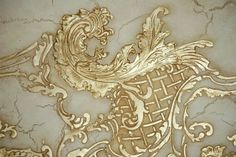 Architectural Relief. Hand Carving. Plaster Mix.