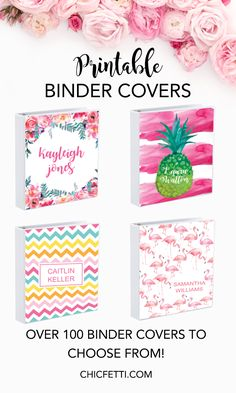 Printable Binder Covers - Make your own binder covers with our free binder covers. We have over 100 binder cover templates to choose from including monogram binder covers. #bindercovers #printablebindercovers #monogrambindercovers #diybindercovers #bindercovertemplates