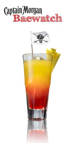 Baewatch! Coconut rum, cranberry juice, pineapple juice. Such a gorgeous drink!