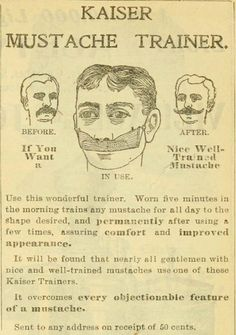 Mustache Trainer - you go ahead and show that facial hair who's boss, champ!
