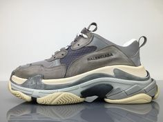 f7d9e16e92a8 Balenciaga Triple S 483513W06E11259 Grey Shoes 1 Grey Shoes