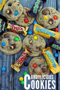 Candylicious Junkyard Cookies!! Perfect for getting rid of all that Halloween Candy. #cookies