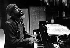 Marvin Gaye in the studio during the sessions of 'Let's Get It On', 1970s