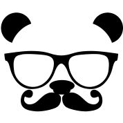 I want this on something; a shirt, pillow, whatever. Panda with glasses and mustache
