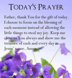 Today's Prayer!
