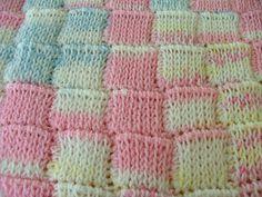 Tunisian crochet, looks like knitting for CeCe's Baby Blanket
